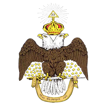 Ancient and Accepted Scottish Rite double headed eagle logo.