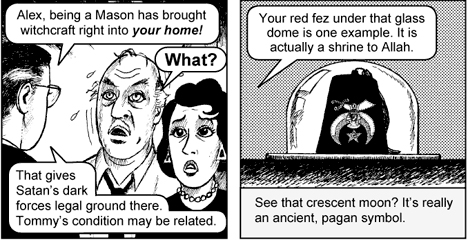 Jack Chick anti-masonic cartoon