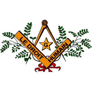 Le Droit Humain, masonic logo, mixed masonry, Freemason Information