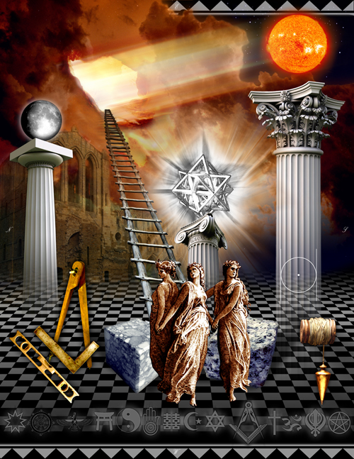 First Degree, Tracing Board, gregory b stewart, masonic art, freemason information