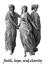 Three Principal Rounds, masonic symbol, three muses, masonic ladies