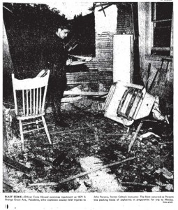 The ruins of Parsons lab 1952