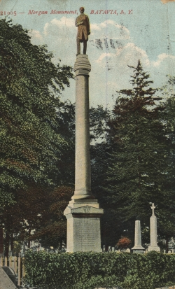 William Morgan monument in Batavia, New York
