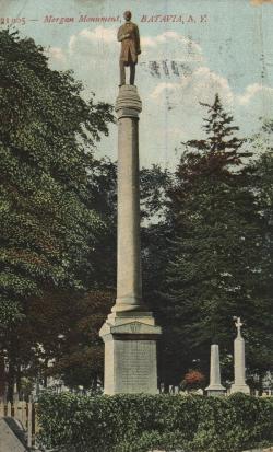 William Morgan monument in Batavia, New York