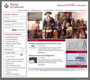 The Grand Lodge of California website