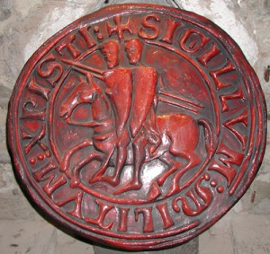 templar engraving, masonic knights, templar seal