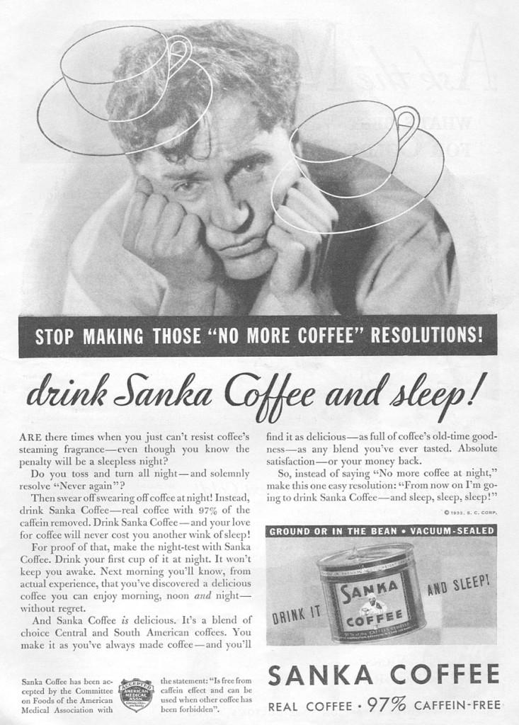 vintage sanka ad