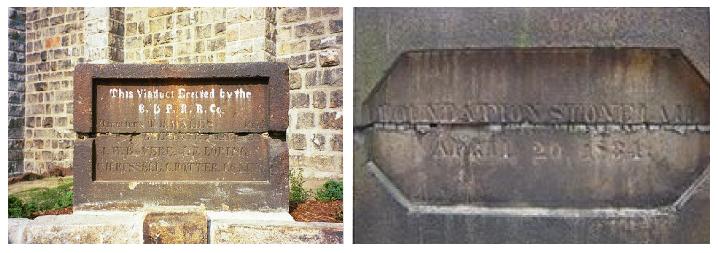 Canton Viaduct cornerstone inscription