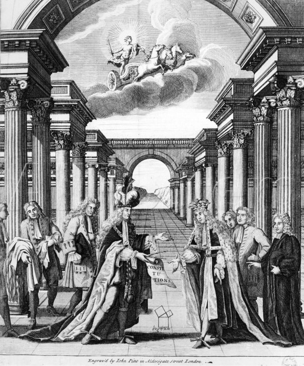 Frontispiece from Anderson's Constitutions