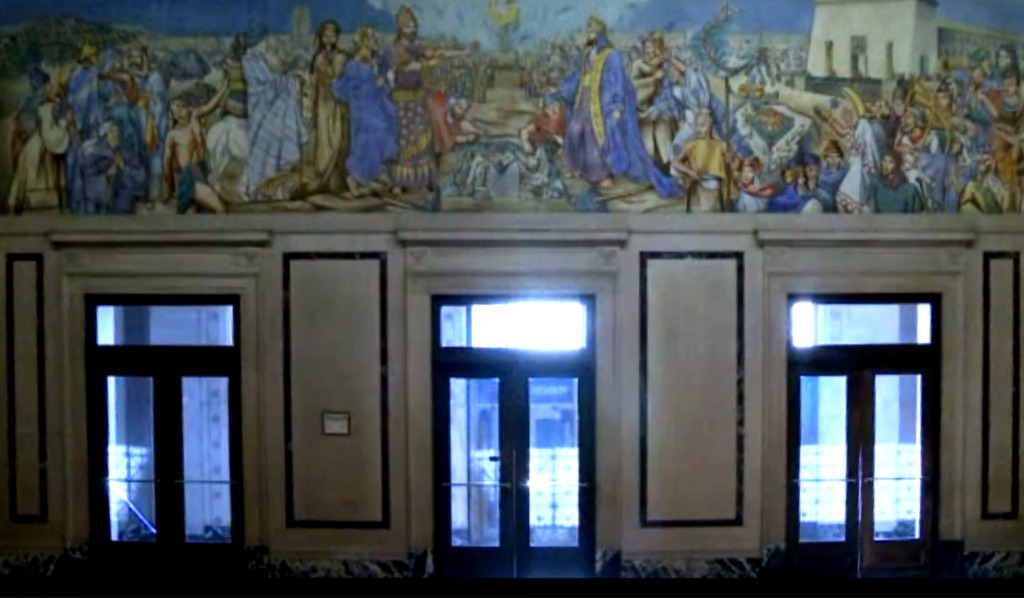 The Origins of Freemasonry Jessie Housley Holliman mural