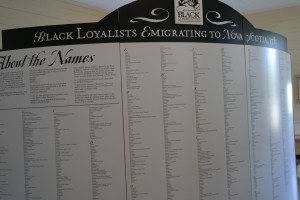 Replica of the Book of Negroes at the Black Loyalist Heritage Museum, Birchtown, Nova Scotia