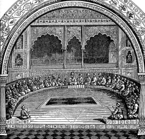 A 19th century depiction of the assembly of the Sanhedrin.