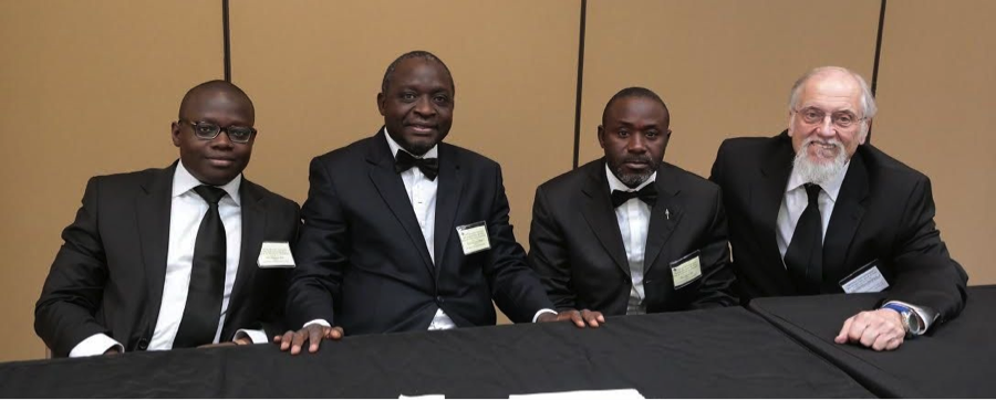 Frederic With Brothers from Cote d'Ivoire 2014 Grand Session, MWPHGLTX