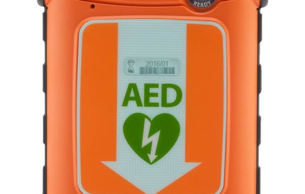 The Powerheart G5 AED is the first FDA-cleared AED to combine fully automatic shock delivery, fast shock times, and dual-language functionality to fight the leading cause of death in the United States: sudden cardiac arrest. (PRNewsFoto/Cardiac Science Corporation)