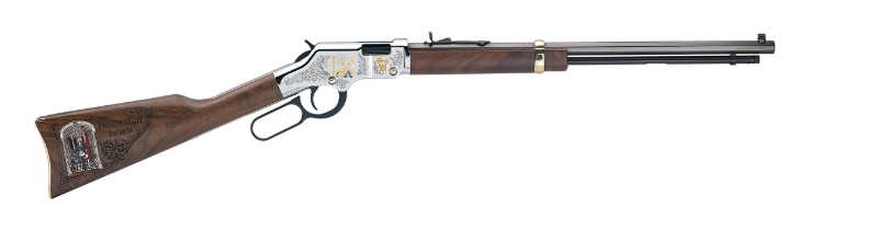 The Henry Golden Boy Freemasons Tribute Edition Rifle. Visit henryrifles.com to learn more. (PRNewsFoto/Henry Repeating Arms)