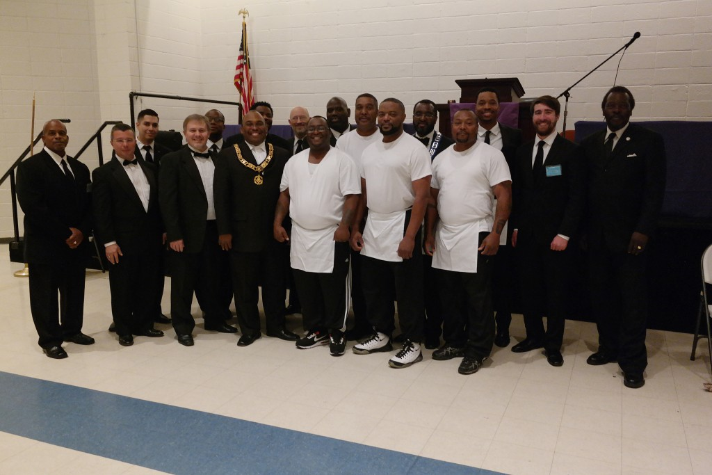 Newly Raised Master Masons from Pride of Mt. Pisgah with Brothers from Mt. Pisgah and Grand Lodge of Texas Brethren