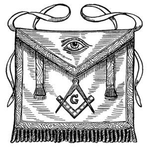 apron, all seeing eye, decorative apron, masonic symbol, freemasonry