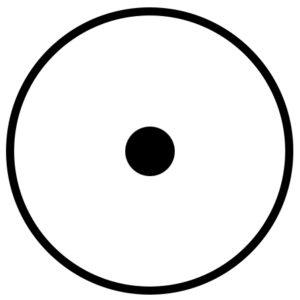 PWC, gold symbol, circle with dot
