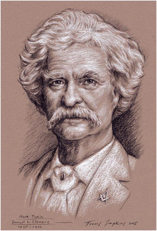 Mark Twain, Author and Freemason. Mark Twain House & Museum. Hartford, CT, by Travis Simpkins