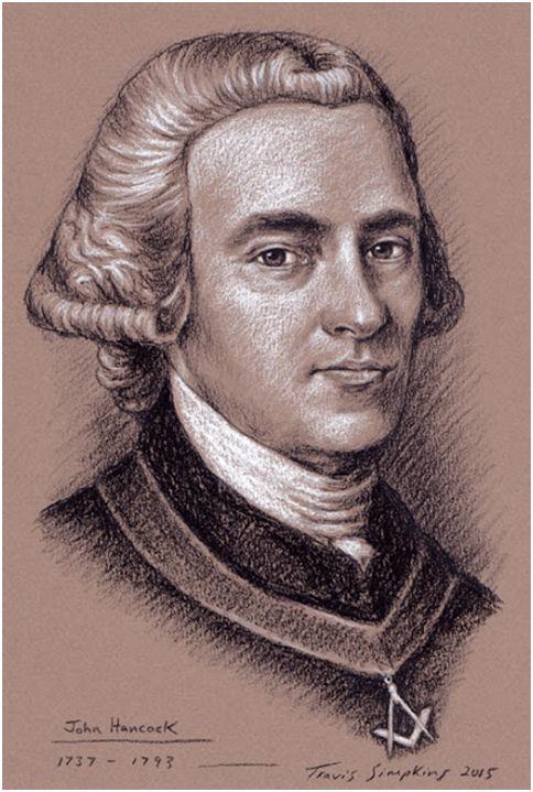 John Hancock, Freemason. St. Andrew's Lodge. Boston, MA, by Travis Simpkins
