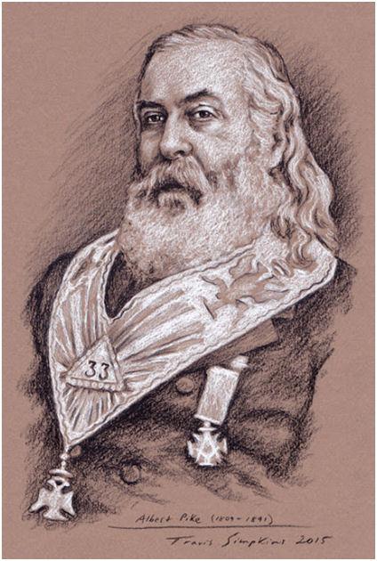 "Albert Pike, 33° Scottish Rite Freemason and Author of ""Morals & Dogma"" by Travis Simpkins"