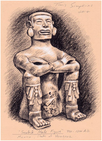 Worcester Art Museum: Pre-Columbian Seated Male Figure, 900-1200 AD, by Travis Simpkins