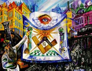 art, apron, outsider art, all-seeing eye