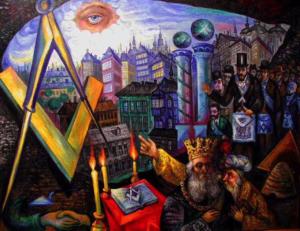 art, Freemasonry, painting, Ari Roussimoff