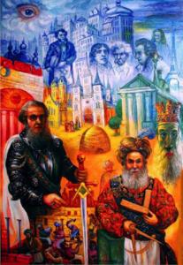 freemasonry, art, painting, Ari Roussimoff