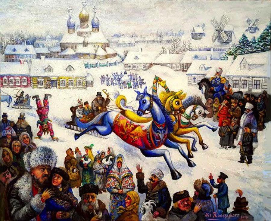 The Magical Troika, Ari Roussimoff, art, painting