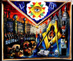 masonic art, painting, all-seeing eye, Freemasonry, Ari Roussimoff