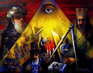 masonic art, painting, all-seeing eye, Freemasonry, Ari Roussimoff