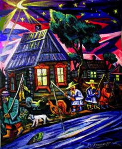 art, Ari Roussimoff, old country, shack, fishing