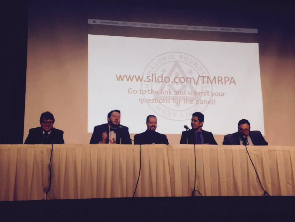 The Masonic Roundtable panel discussion at the end of the PA Academy of Masonic Knowledge, 2016