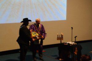 Grand Master Presented A Flag