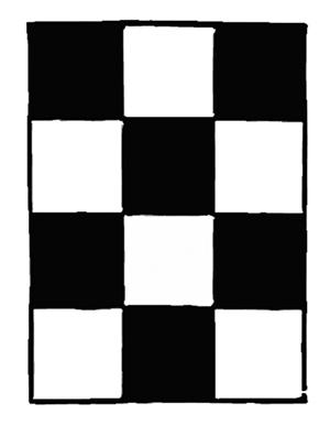 Form of lodge floor in true proportions of 3x4