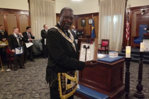 DGM Anderson Shows His Gavel Gift