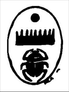 Scarabseus bearing signature of Thothmes III. BCE 1603