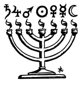 The Jewish seven-branched candlestick and its symbolism.