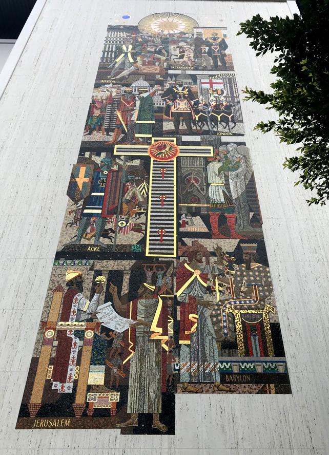 Millard Sheets, mosaic, Los Angeles, Scottish Rite