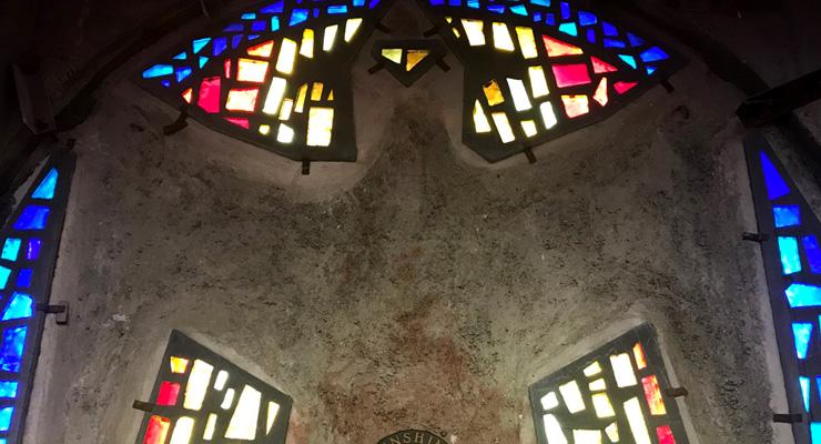 window, sculpture, Scottish Rite