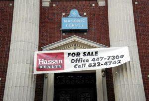 masonic lodge, for sale, change in membership