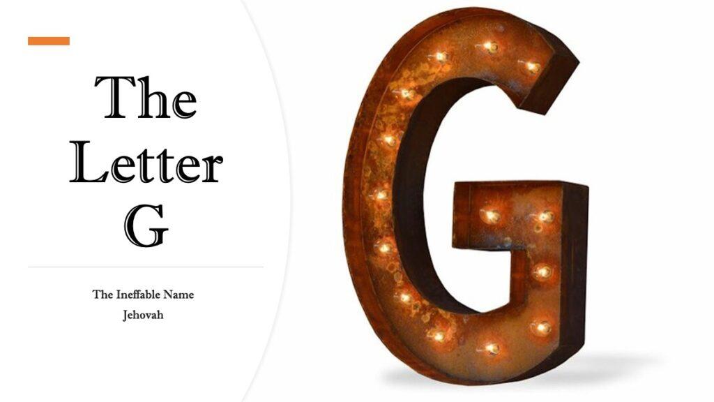 The Letter G | Freemason Information