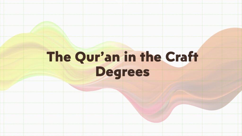 the koran in freemasonry